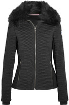 Fusalp - Montana Faux Fur-trimmed Quilted Ski Jacket - Black