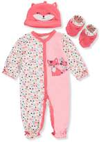 Buster Brown Baby Girls' 3-Piece Layette Set