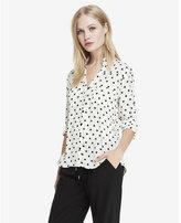 Express original fit polka dot portofino shirt