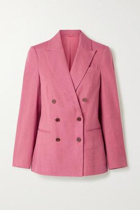 Brunello Cucinelli Linen-blend Blazer - Pink