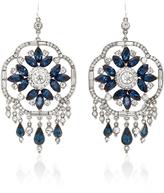 Ben-Amun Ben Amun Silver-Tone Crystal and Sapphire Earrings
