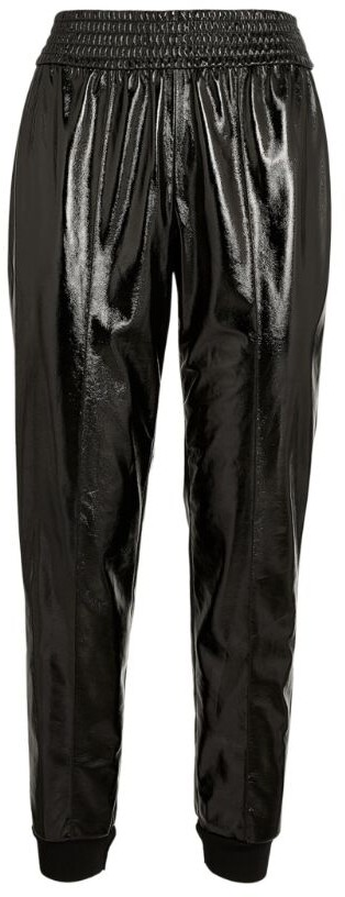 Alice + Olivia Patent Vegan Leather Tokyo Trousers