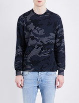 Sandro Crewneck cotton-jersey sweatshirt