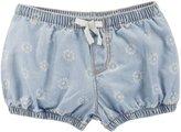 Osh Kosh Floral Shorts (Baby) - Denim - 0-3 Months