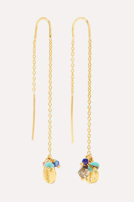 Chan Luu Gold-plated Multi-stone Earrings