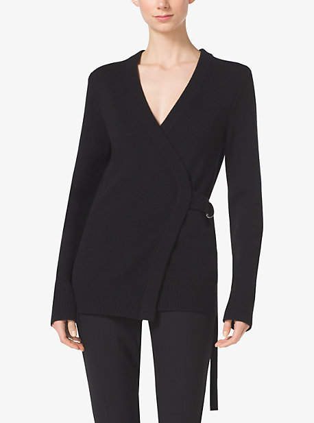 Michael Kors Crossover Cashmere Cardigan