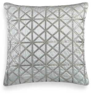"Hotel Collection Lithos Beaded 20"" Square Decorative Pillow, Created for Macy's Bedding"