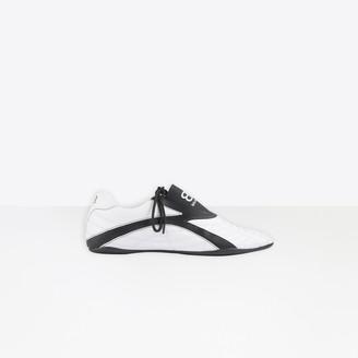 Balenciaga Zen Sneaker in white and black matt technical polyurethane