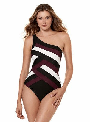 Miraclesuit 6516678 Women's Spectra Matrix Black Underwired Shaping Swimsuit 12