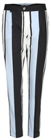 Dolce & Gabbana Striped cropped cotton trousers