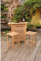 Montego Anderson Teak 3 Piece Bar Set