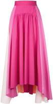 Peter Pilotto panelled trapeze skirt - women - Cotton - 8
