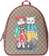 Gucci Kids cat print GG backpack
