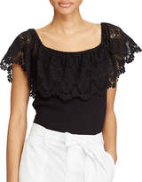 Lauren Ralph Lauren Petite Lorazon Lace Off-the-Shoulder Top