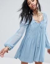 Free People Lini Smocked Mini Dress