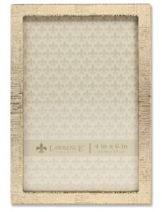 """Lawrence Frames Gold Metal Picture Frame with Linen Pattern - 4"""" x 6"""""""
