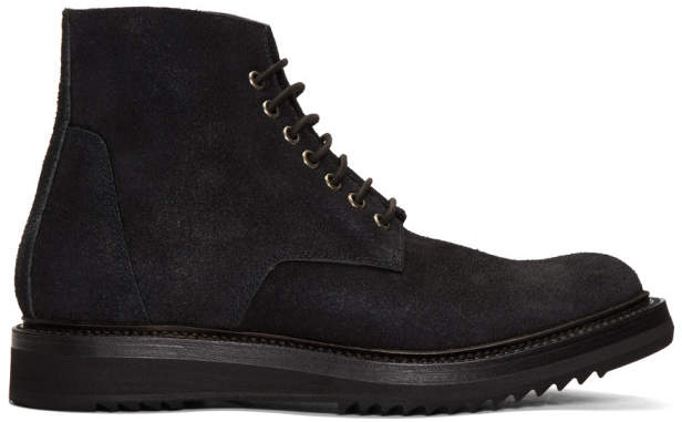 Rick Owens Black Chukka Creeper Boots