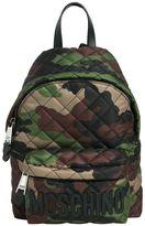 Moschino Medium Quilted Camo Nylon Backpack