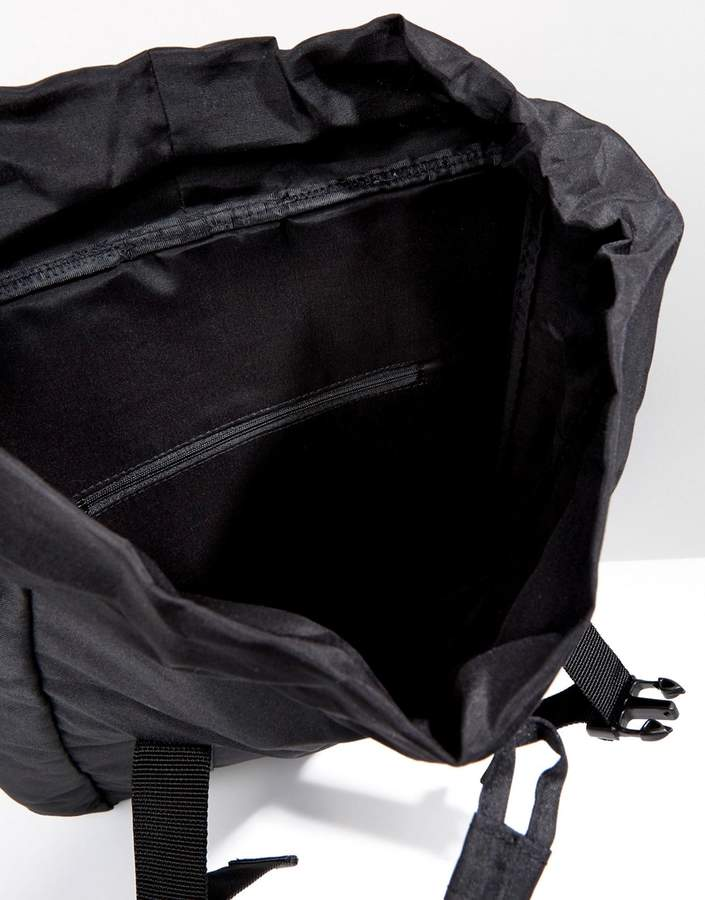 Asos Hiker Backpack In Black With Clip Detail