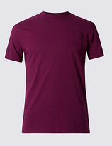 Limited Edition Slim Fit Pure Cotton Pocket T-shirt With Stay Soft Technology