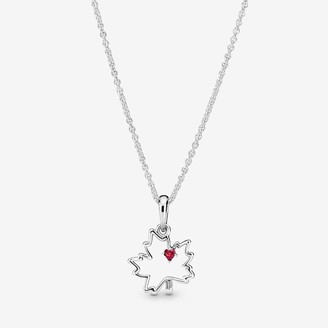 Pandora Maple Leaf Pendant Necklace
