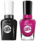 Sally-Hansen Miracle Gel Nail Color, Mad Women and Top Coat Nail Polish Kit with Dimple Bracelet by Sally-Hansen