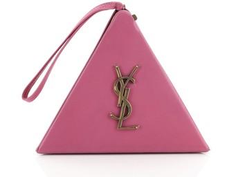 Saint Laurent Pyramid Box Bag Leather Small