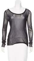 Jean Paul Gaultier Mesh Scoop Neck Top