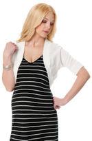 Motherhood Elbow Sleeve Cropped Maternity Sweater