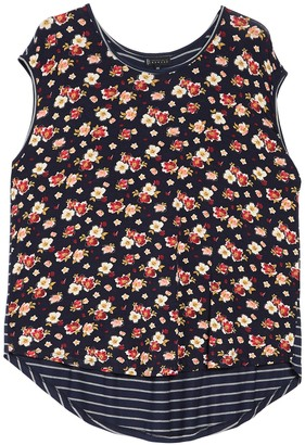 B Collection By Bobeau Suzzane High/Low Knit Tank (Plus Size)