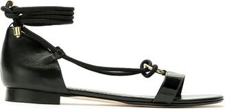 Studio Chofakian Tie Ankle Sandals