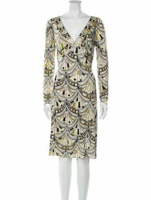 Emilio Pucci Silk Knee-Length Dress Brown