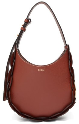 Chloé Darryl Small Leather Shoulder Bag - Dark Brown
