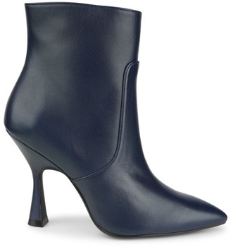Stuart Weitzman Melena Sculptured-Heel Leather Ankle Boots