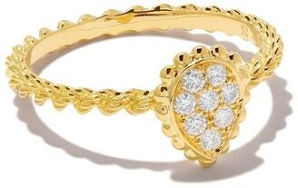 Boucheron 18kt yellow gold Diamond Serpent Boheme XS motif ring