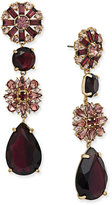 Kate Spade Gold-Tone Stone and Crystal Drop Earrings