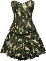 BSLINGERIE® Womens Halloween Army Camouflage Corset and Skirt (S, )