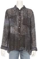 Raquel Allegra Oversized Velvet Leopard Shhirt