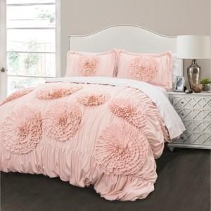 Lush Decor Serena King Comforter 3Pc Set Bedding