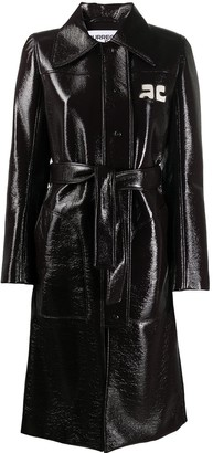 Courreges Leather-Effect Trench Coat