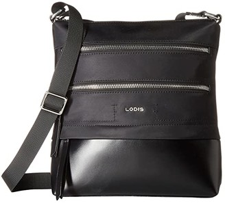 Lodis Nylon Sports Wanda Travel Crossbody (Black) Cross Body Handbags