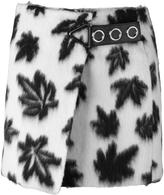 Alexander Wang leaf motif wrap mini skirt - women - Polyester/Viscose/Alpaca/Virgin Wool - 4