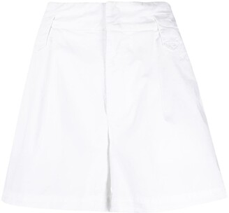 Dondup Wide-Leg Knee-Length Shorts