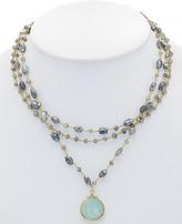 Rachel Reinhardt 14K Over Silver Chalcedony & Labradorite Necklace