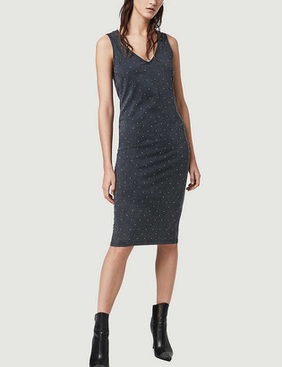 AllSaints Leigh studded slim cotton dress