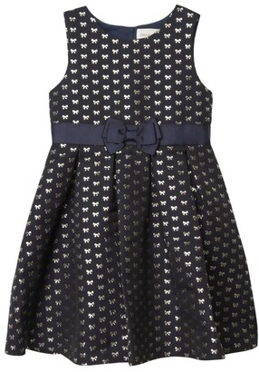 Charabia Bow Jacquard Dress (3-12 Years)