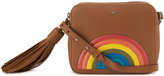 Anya Hindmarch Crossbody Rainbow Bag in Caramel Silk Calf Leather