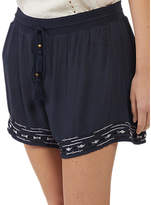 Fat Face Tidal Embroidered Shorts, Navy