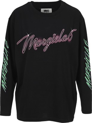 MM6 MAISON MARGIELA Logo Long-Sleeve T-Shirt