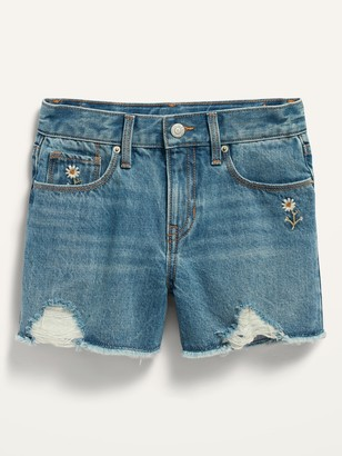 Old Navy Extra High-Waisted Sky-Hi Distressed Cut-Off Jean Shorts for Girls